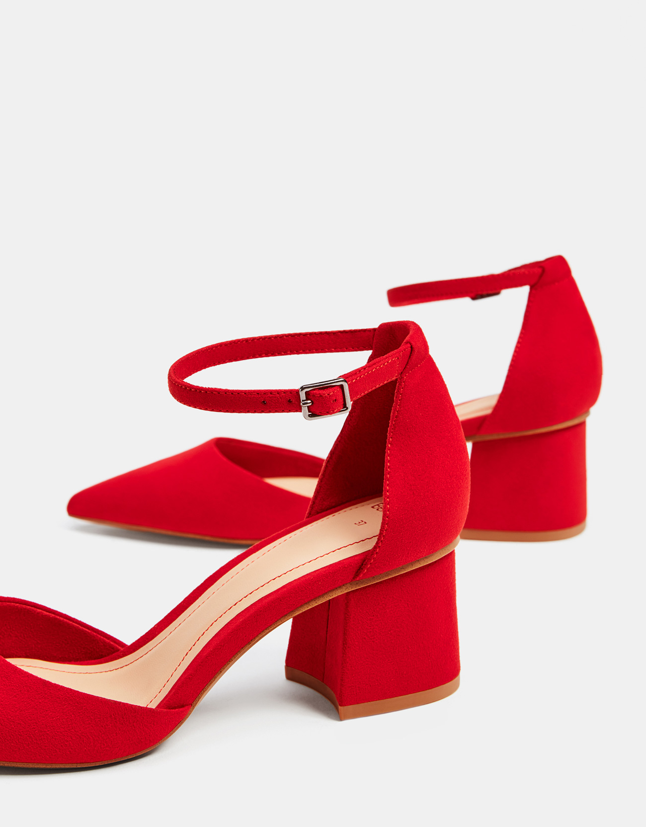 Red mid-heel shoes - SHOES - Bershka Indonesia