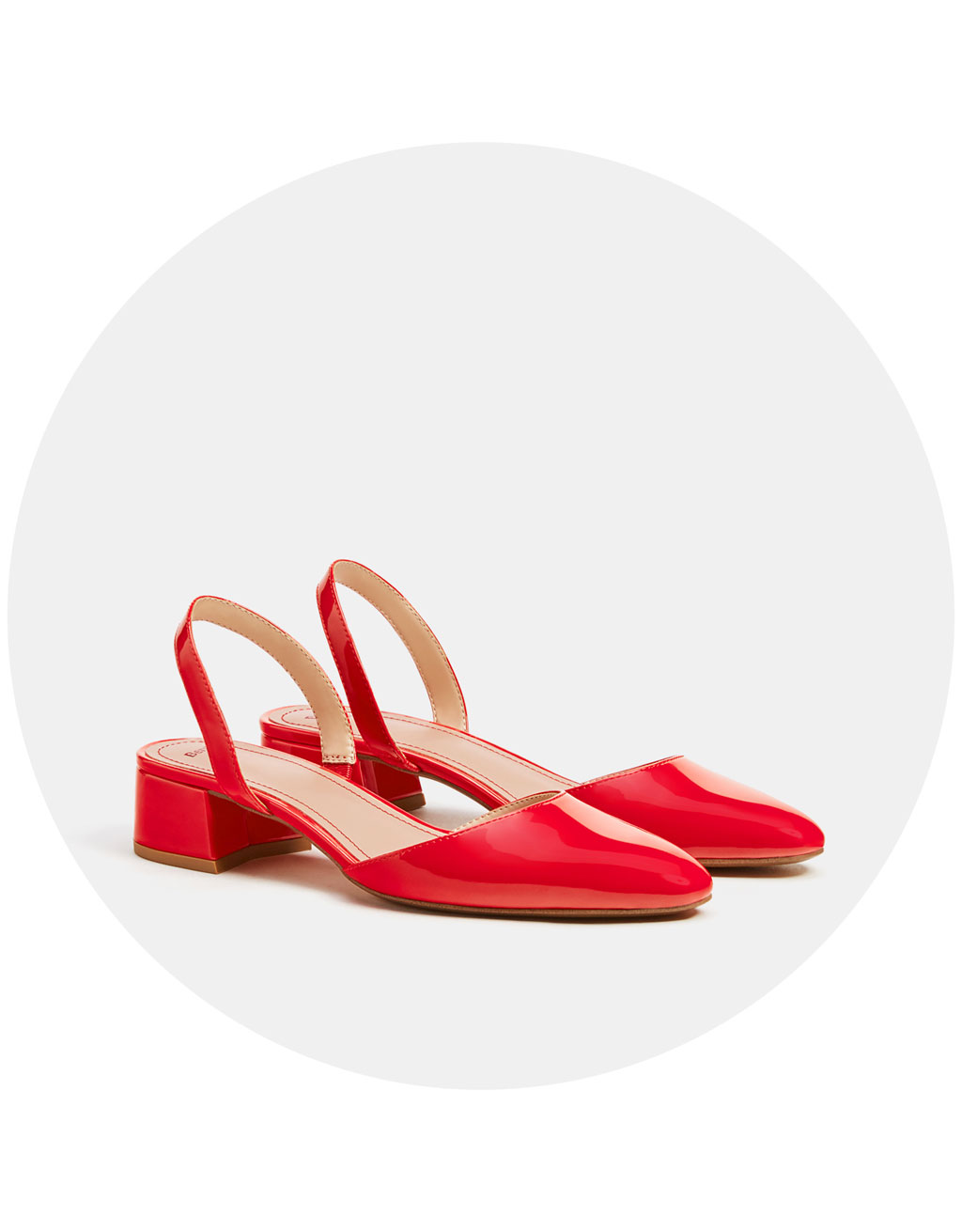 Slingback high-heeled shoes