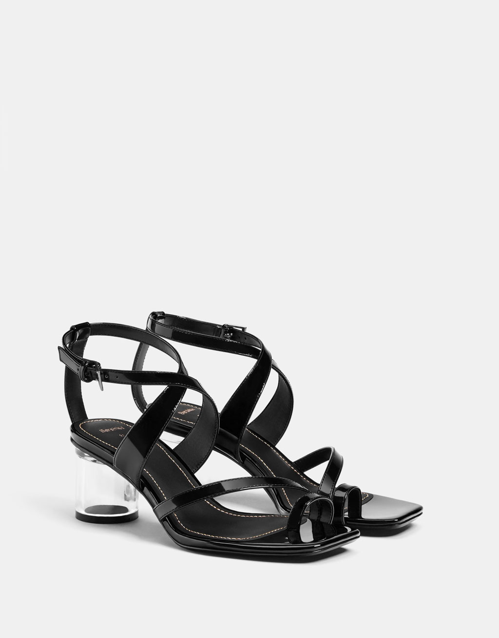 Methacrylate high heel sandals