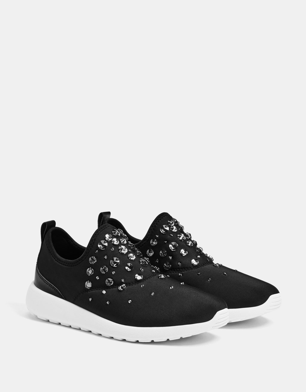Bejewelled technical sneakers