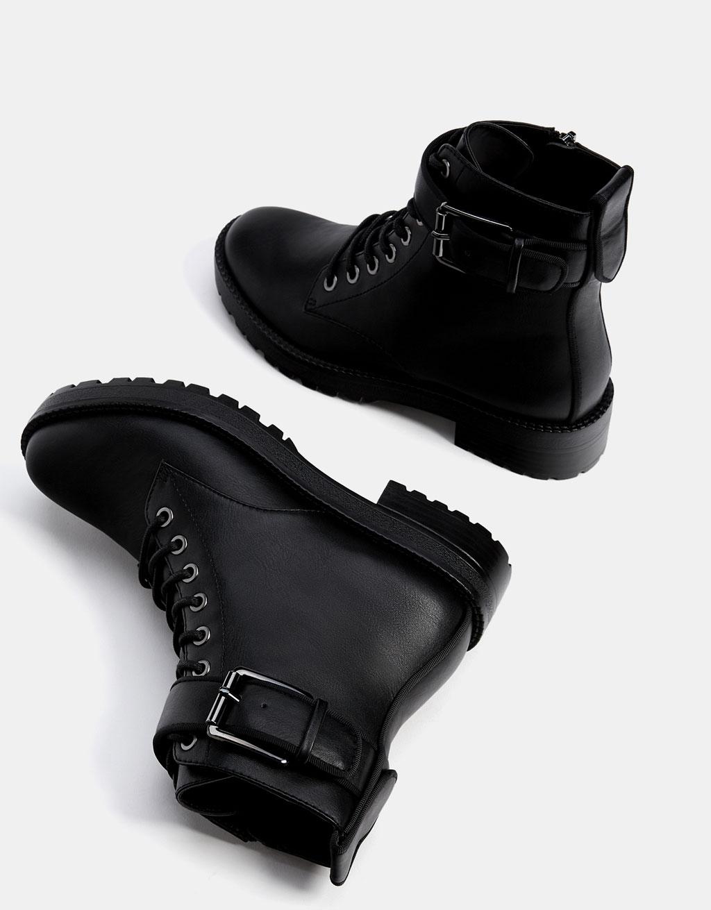bottes et bottines chaussures femme bershka france. Black Bedroom Furniture Sets. Home Design Ideas