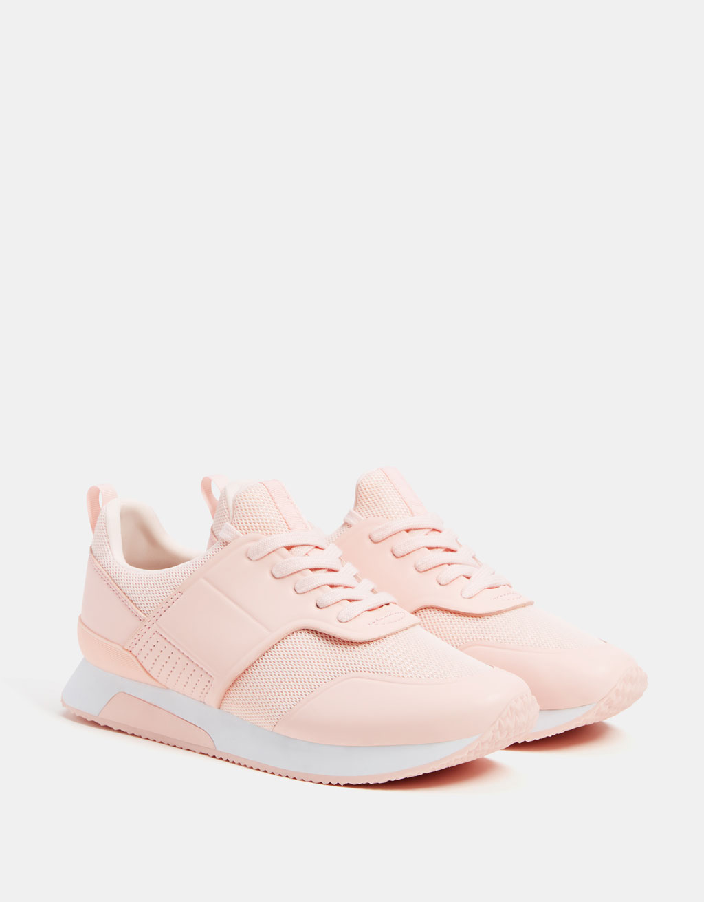 Contrast mesh sneakers