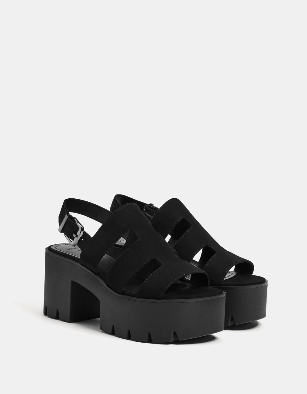 Strappy platform sandals