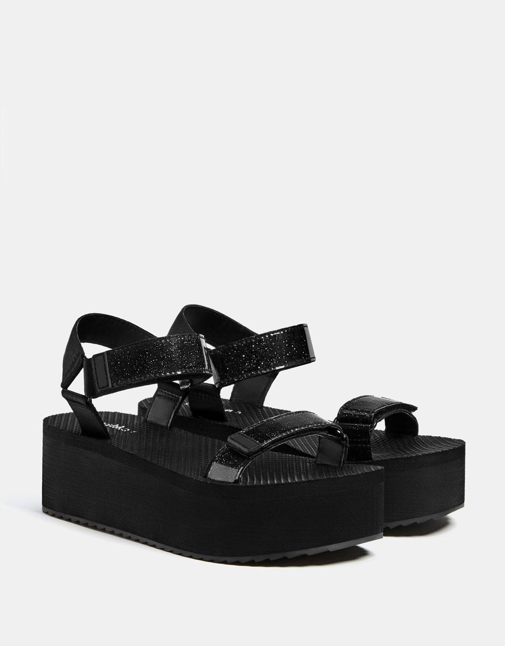 Technical platform sandals