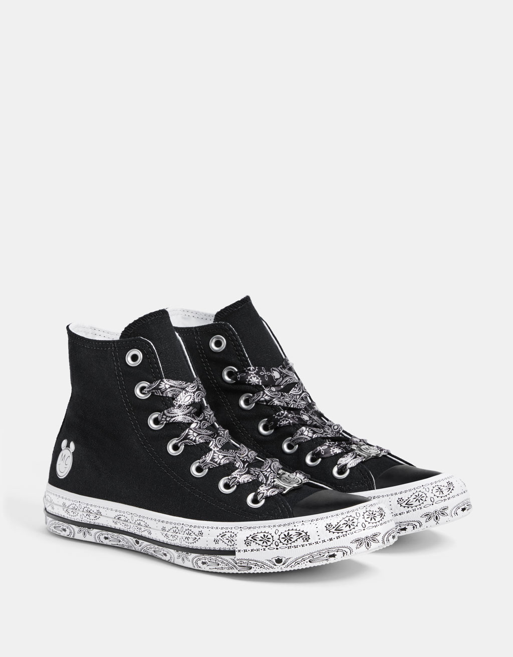 Converse X Miley Cyrus fabric high-top sneakers