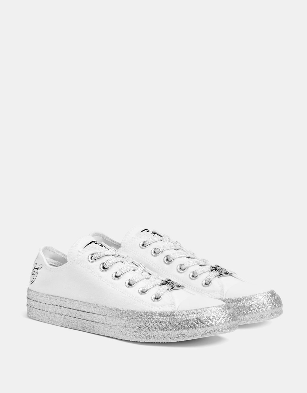Converse X Miley Cyrus fabric sneakers