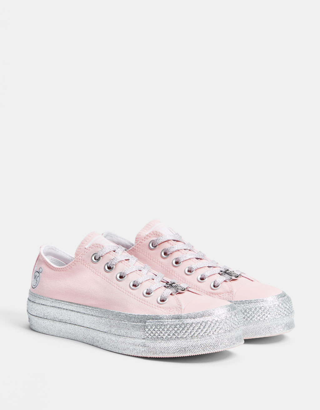 Converse X Miley Cyrus fabric platform sneakers