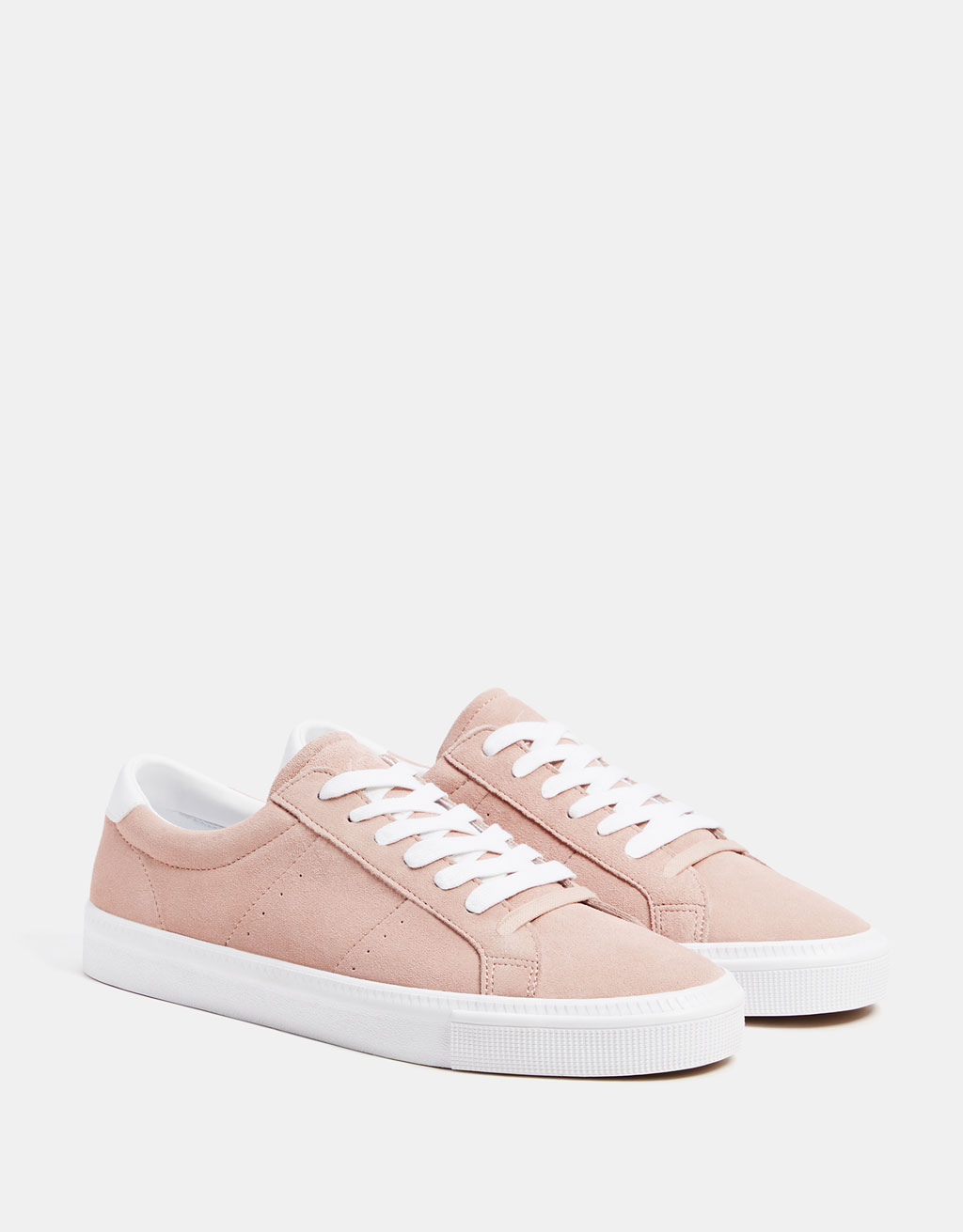 Pink LEATHER trainers