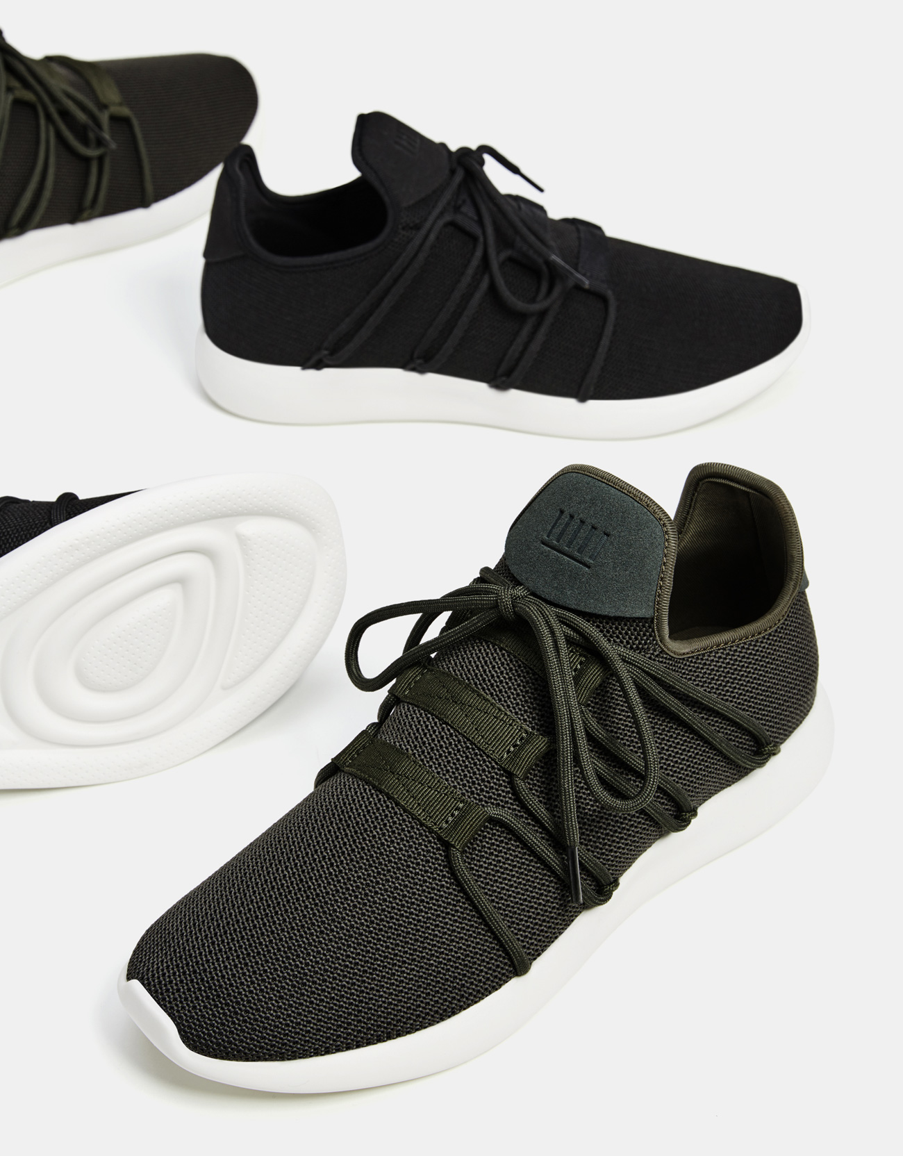 Men's sock-style lace-up sneakers ...