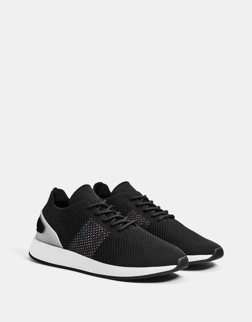 Sneaker met mesh heren
