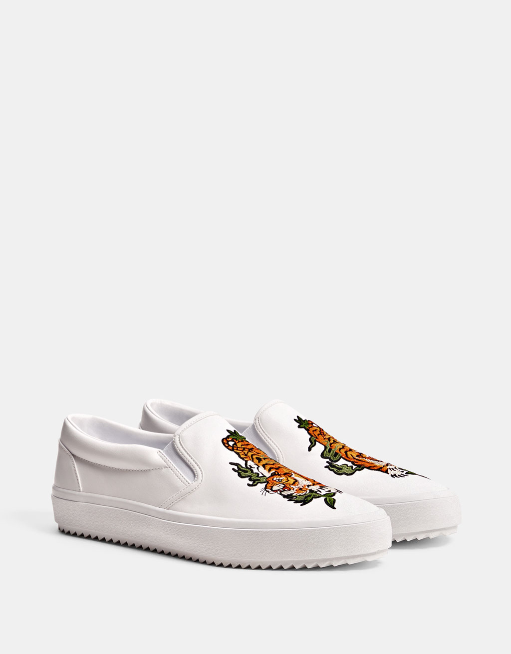 Men's tiger embroidered sneakers