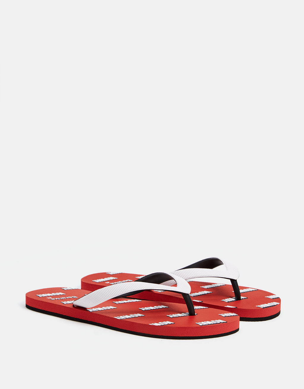 Men's sandals with slogan