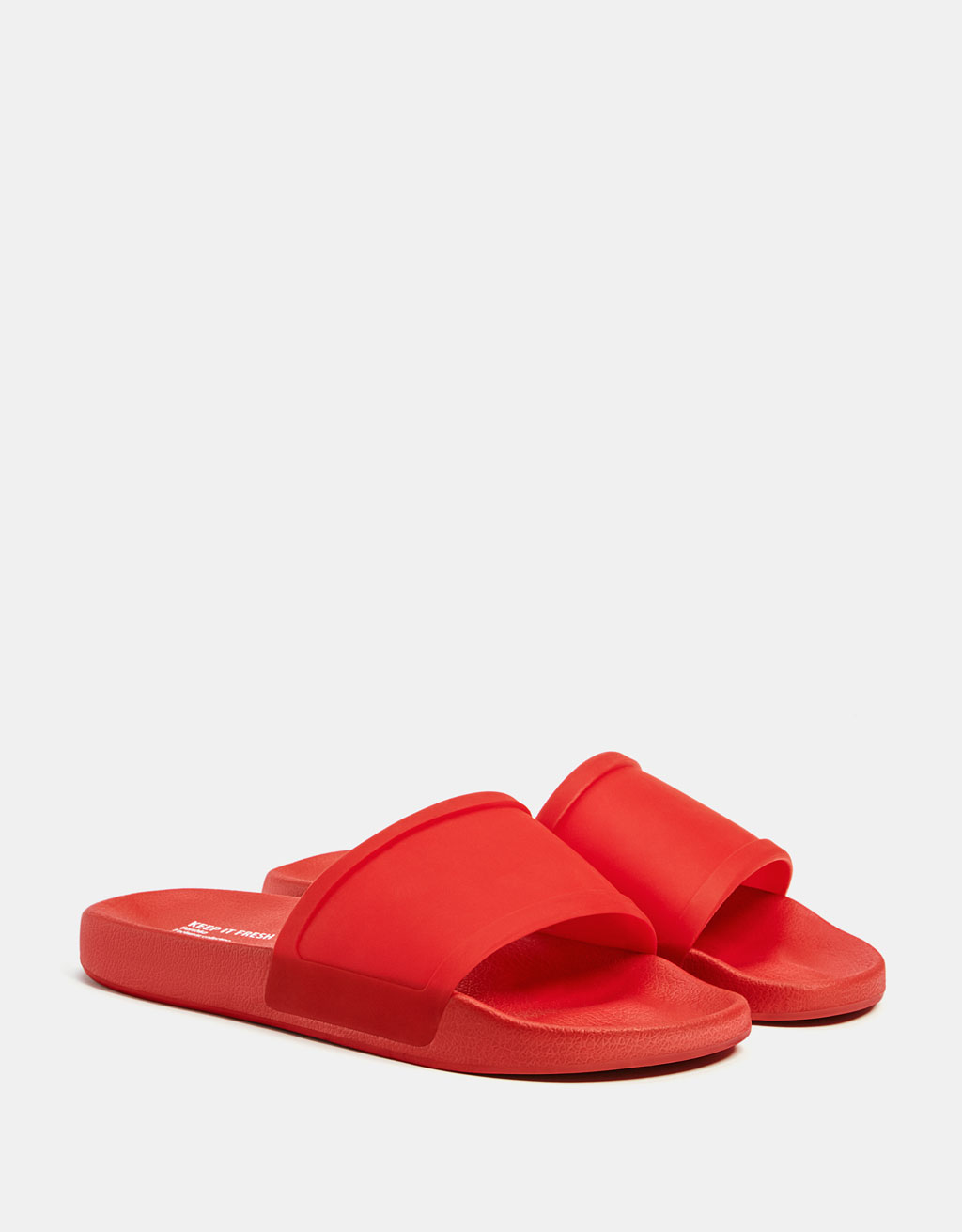 Men's red slides