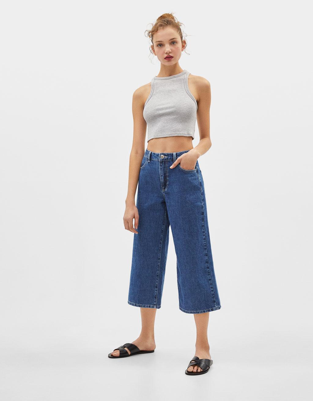 Jeans Culotte Mid Waist