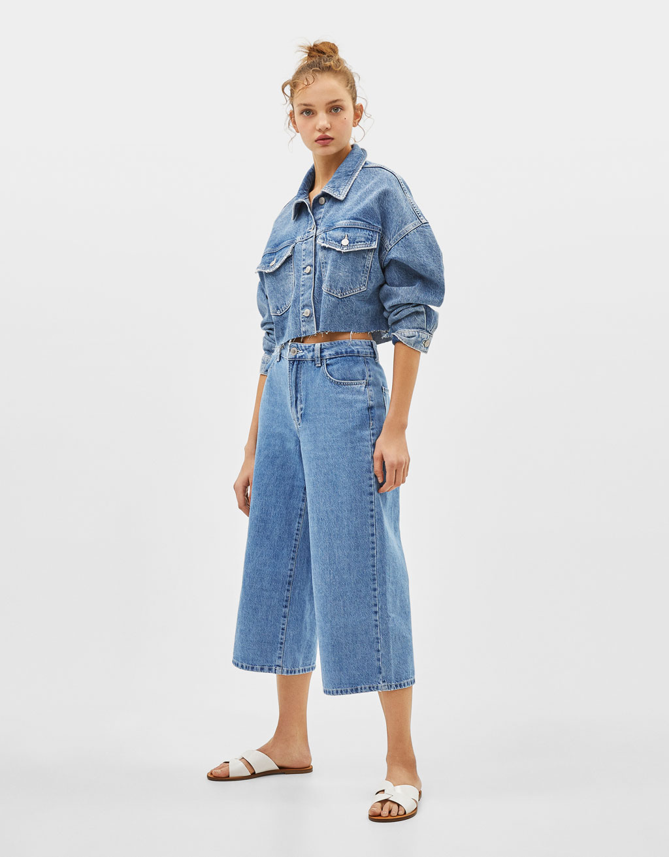 Jeans Culottes Mid Waist