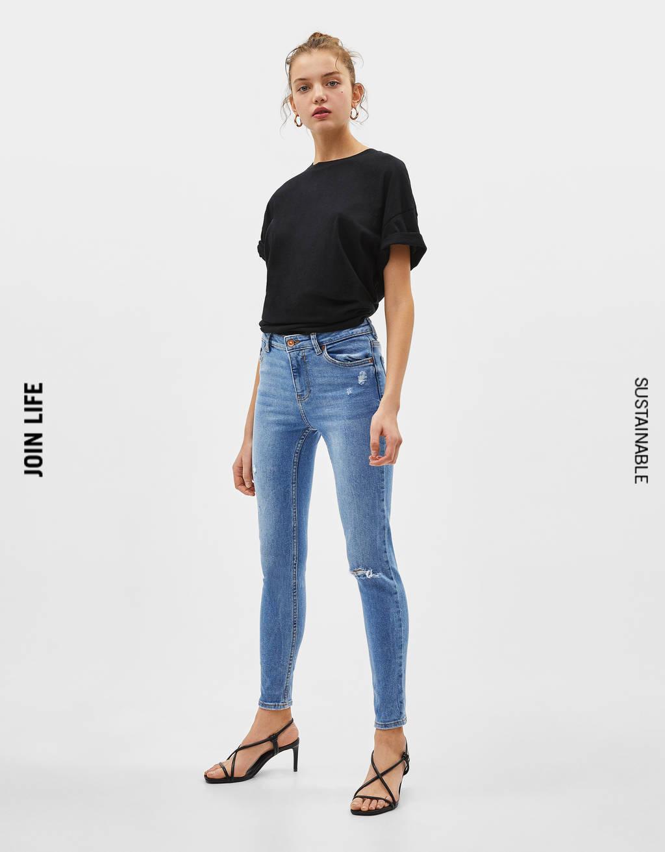 Texans skinny mid waist