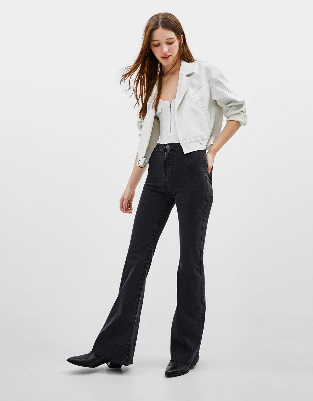 Pantalon élastique flare fit