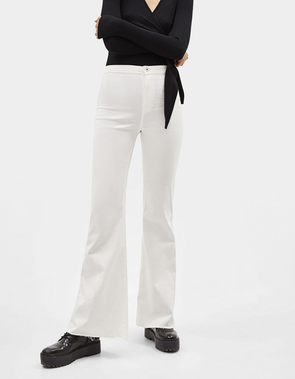 Stretch flared trousers