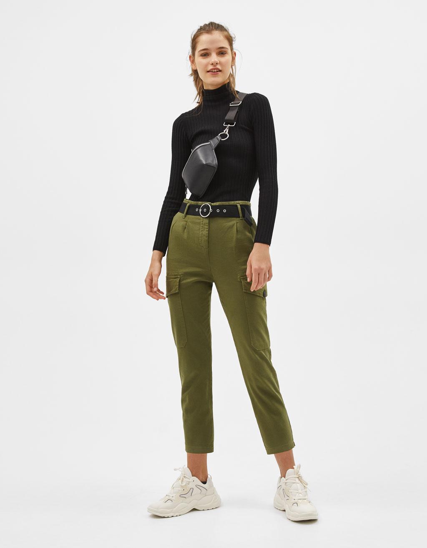 Pantalons de butxaques amb cinturó
