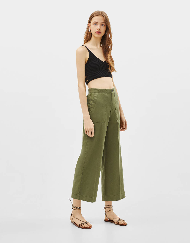 Pantalons culotte mid waist