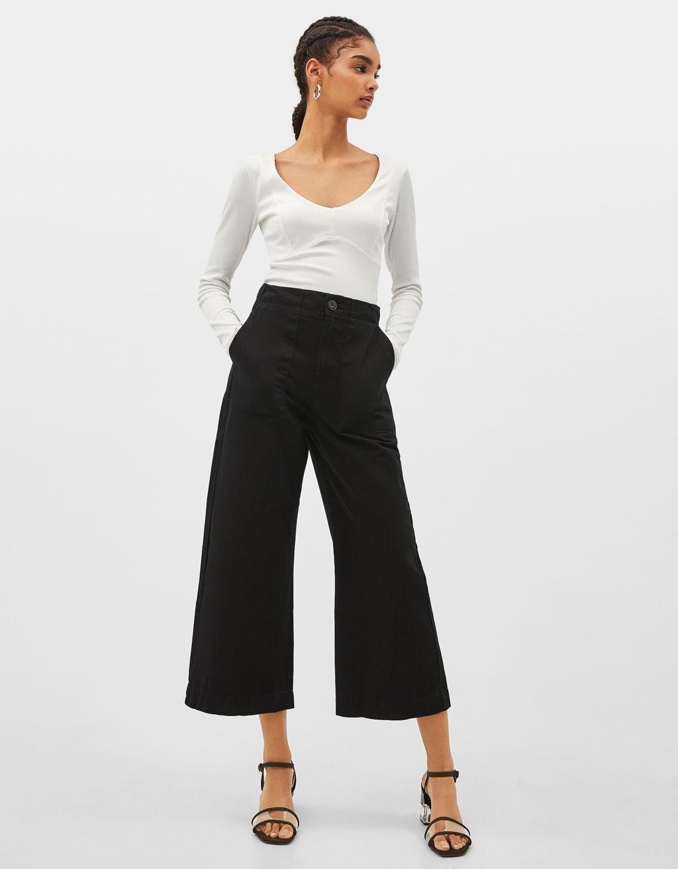 Mid waist culottes