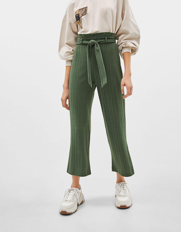 Pantalón Culotte con cinturón