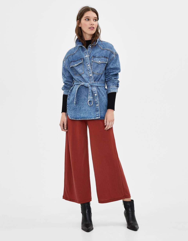 Pantaloni culotte morbidi