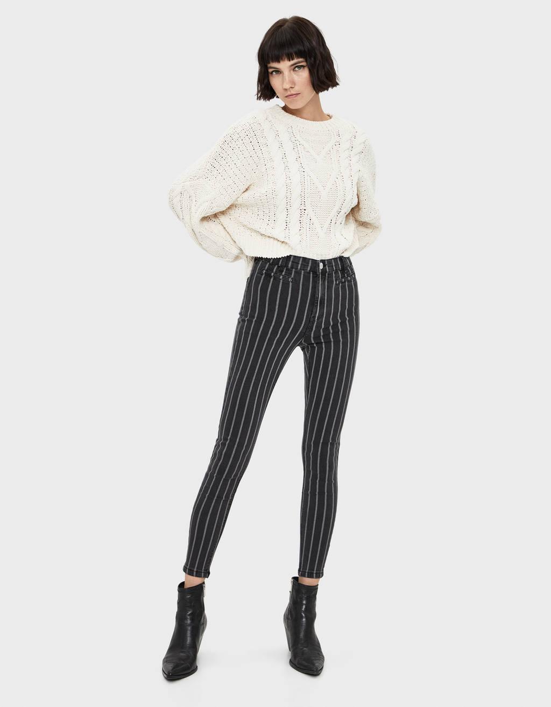 Pantalon jegging taille haute
