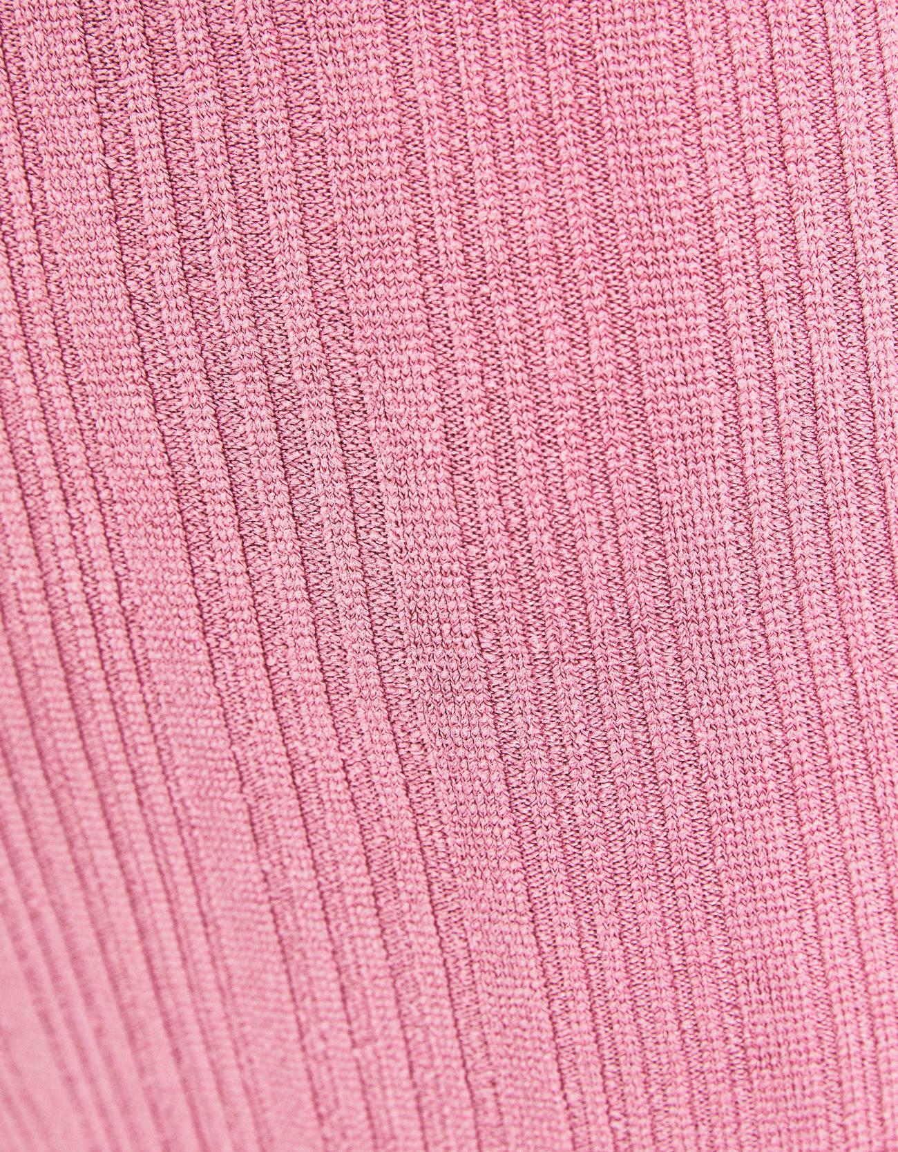 Брюки-клеш из трикотажа в рубчик Розовый Bershka