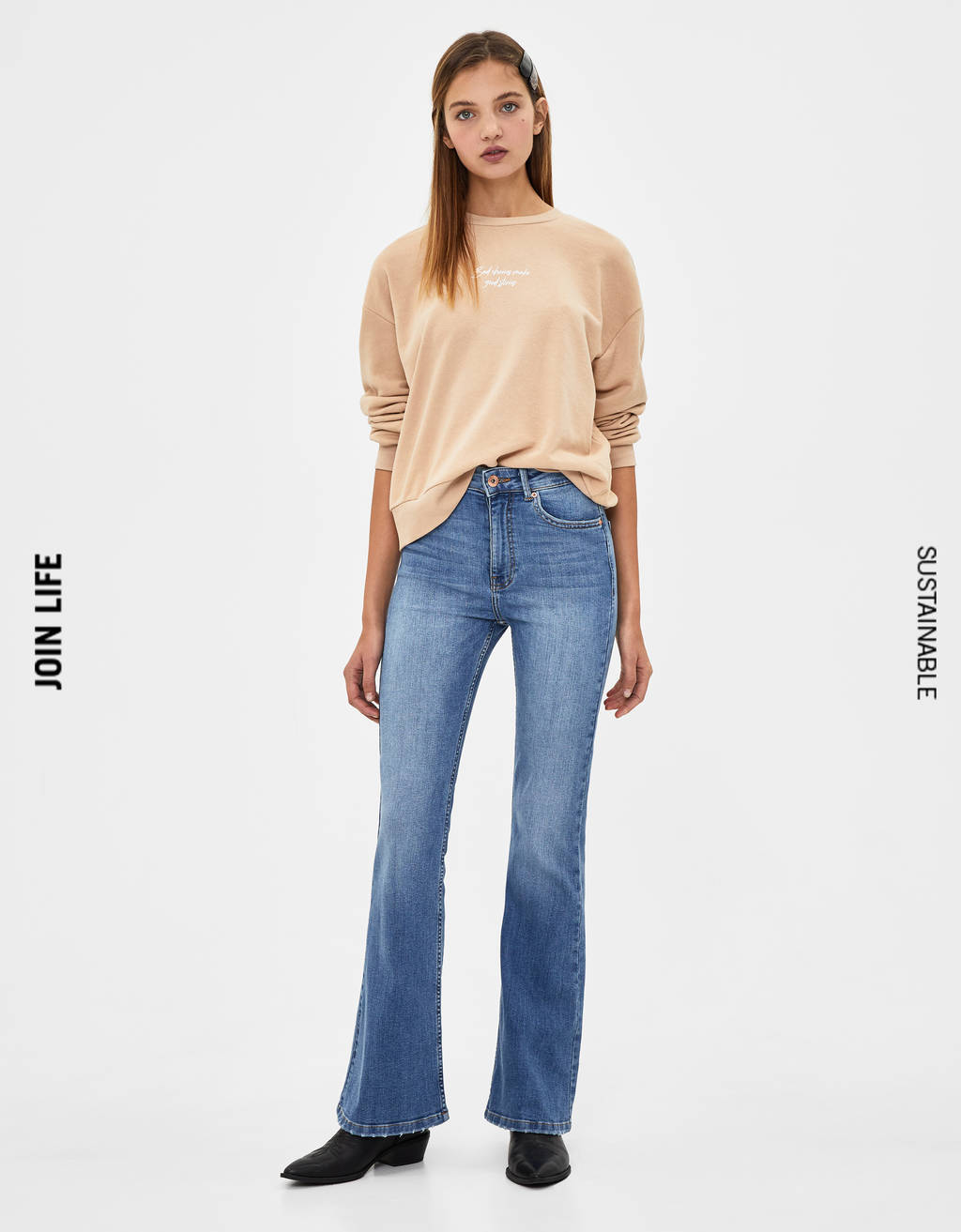 Flare fit Jeans met hoge taille