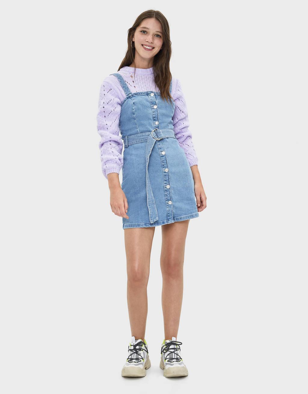 Krátké denimové šaty
