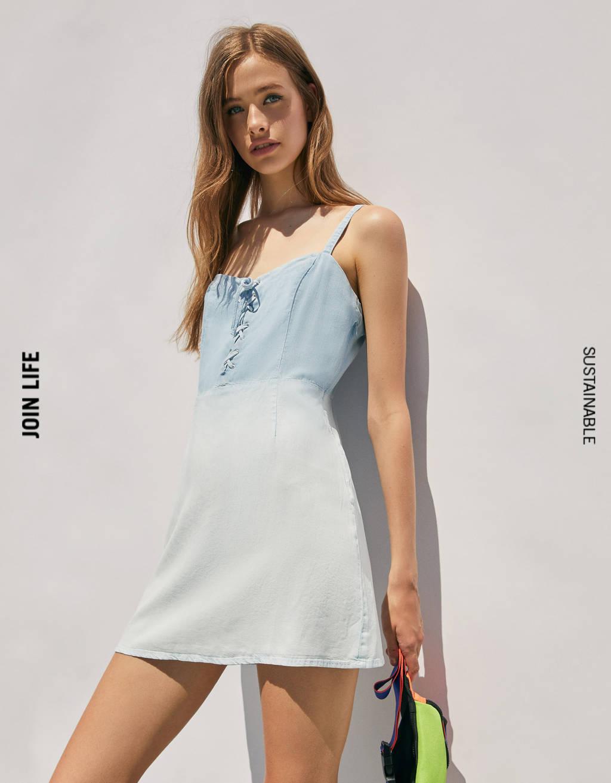 Vestido Tencel® denim lavado