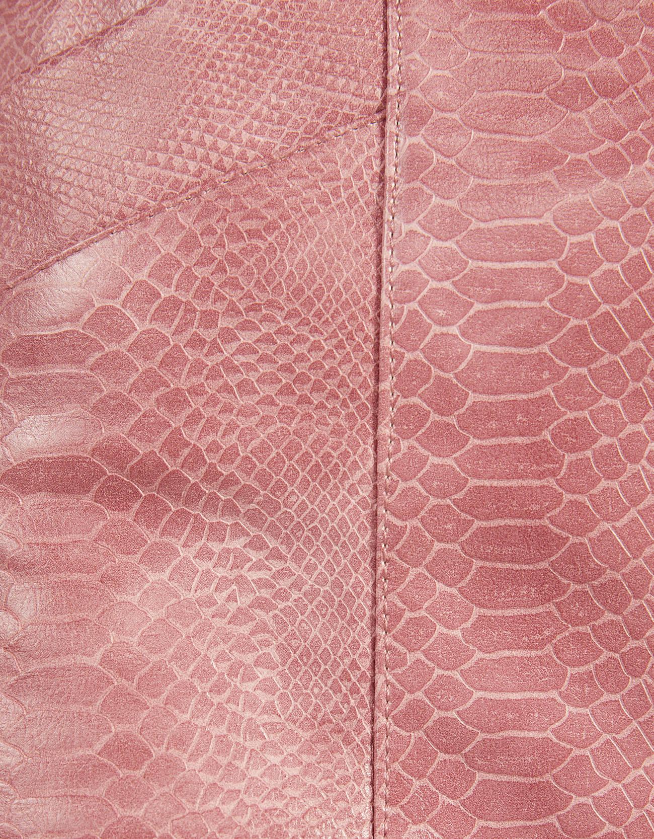 Юбка с тиснением под крокодиловую кожу Розовый Bershka