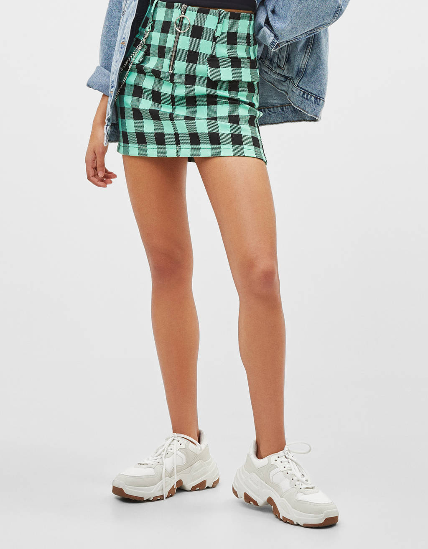 Falda mini con estampado