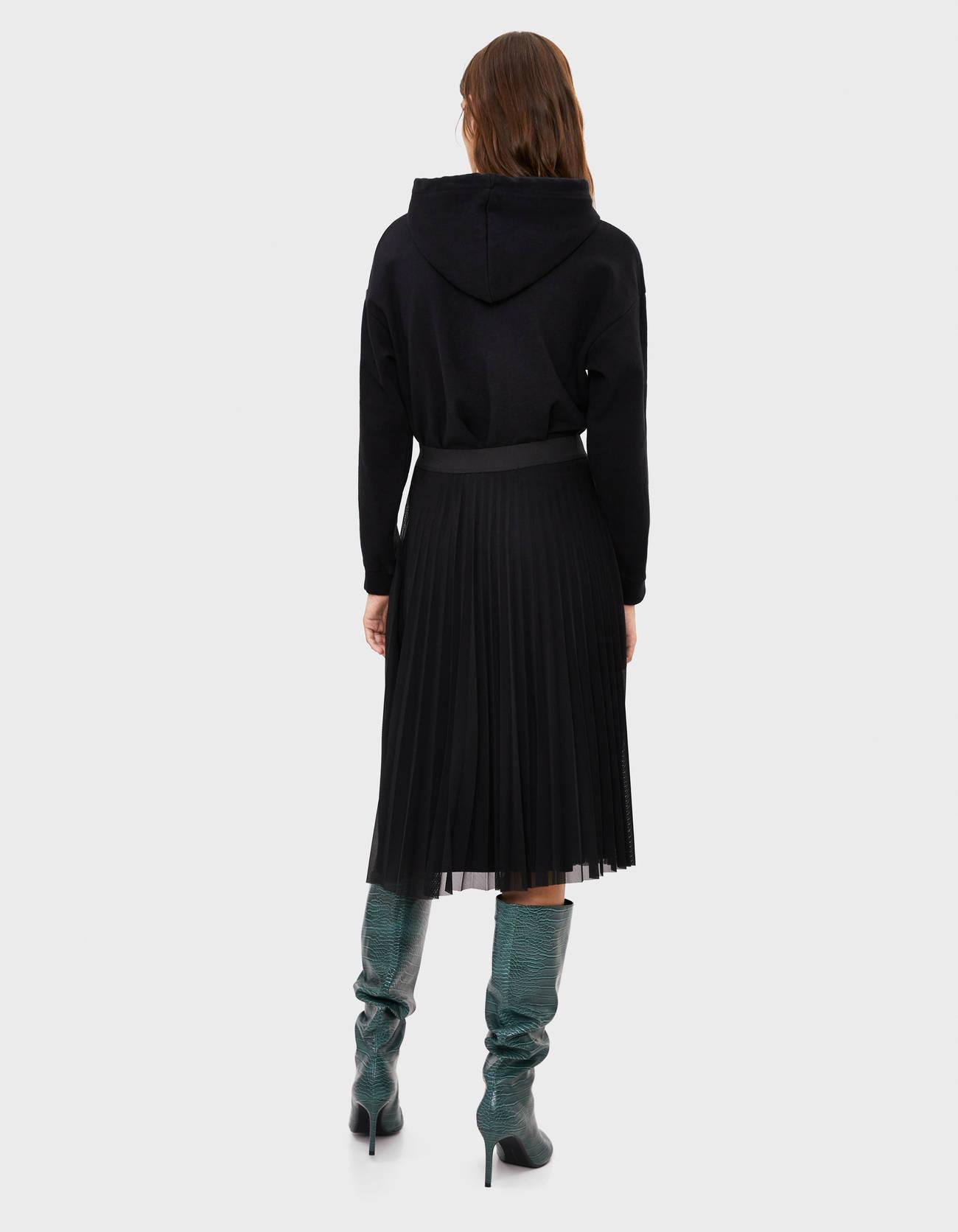 a157a826d4b8 Pleated tulle midi skirt · Pleated tulle midi skirt ...
