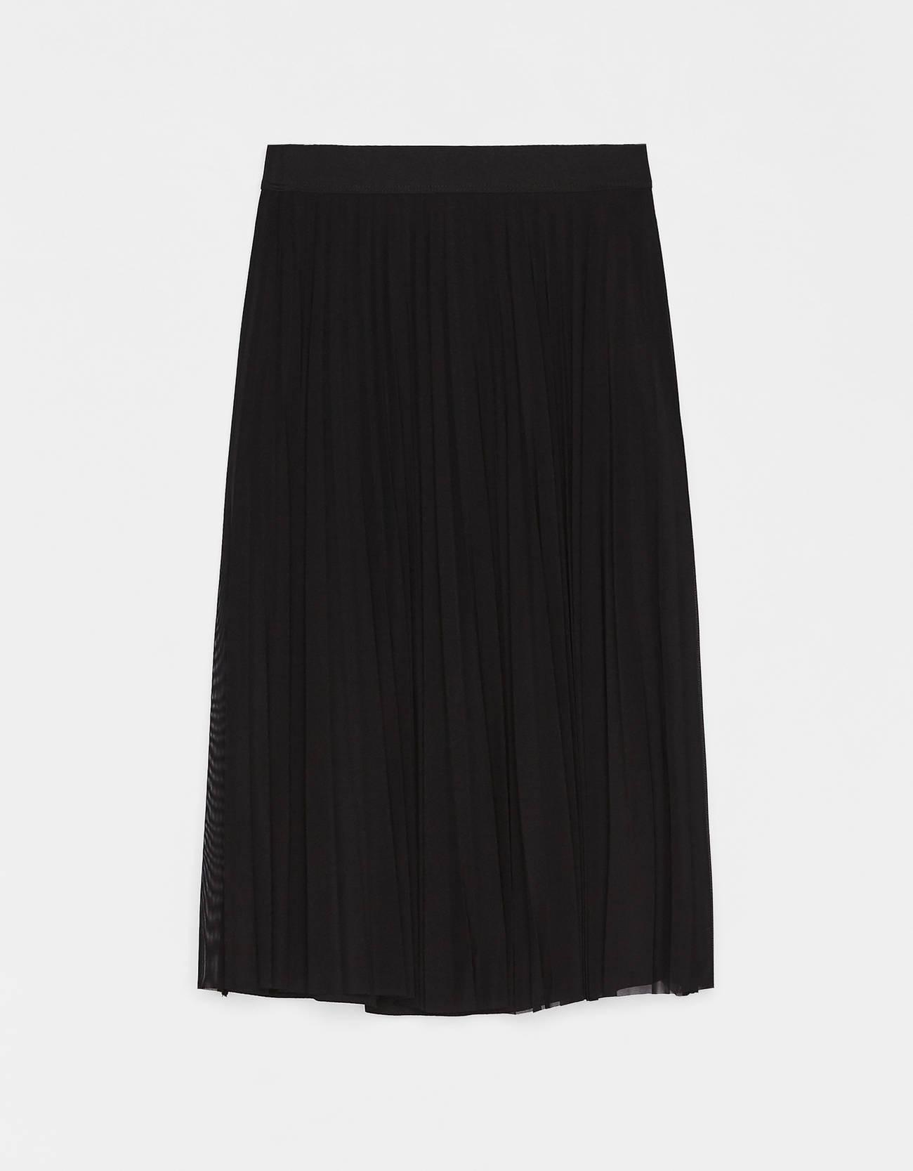 9b7def70f413 Pleated tulle midi skirt - Plain - Bershka Lithuania