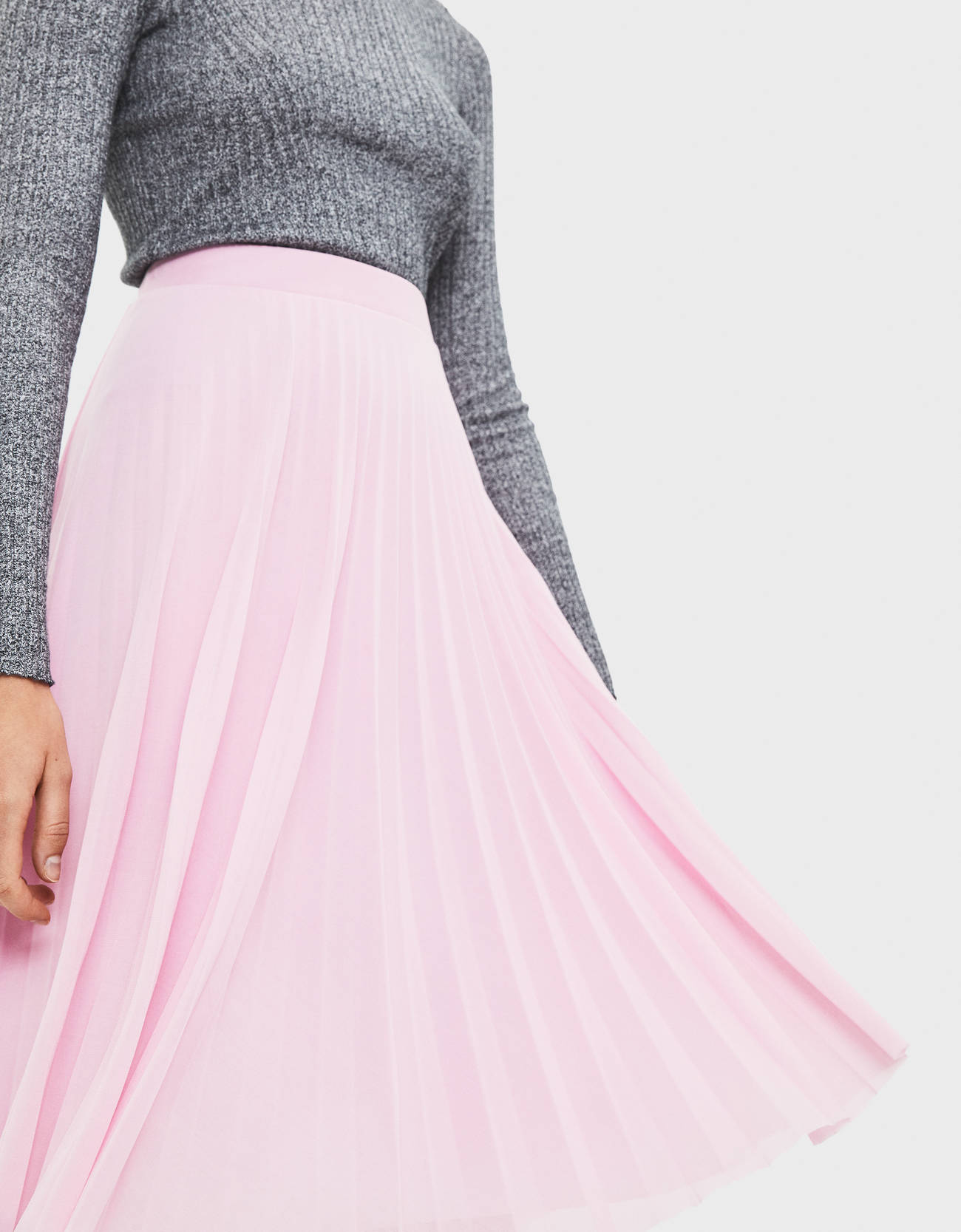 d05fa4cf7 Pleated tulle midi skirt - BSK Teen - Bershka Italy