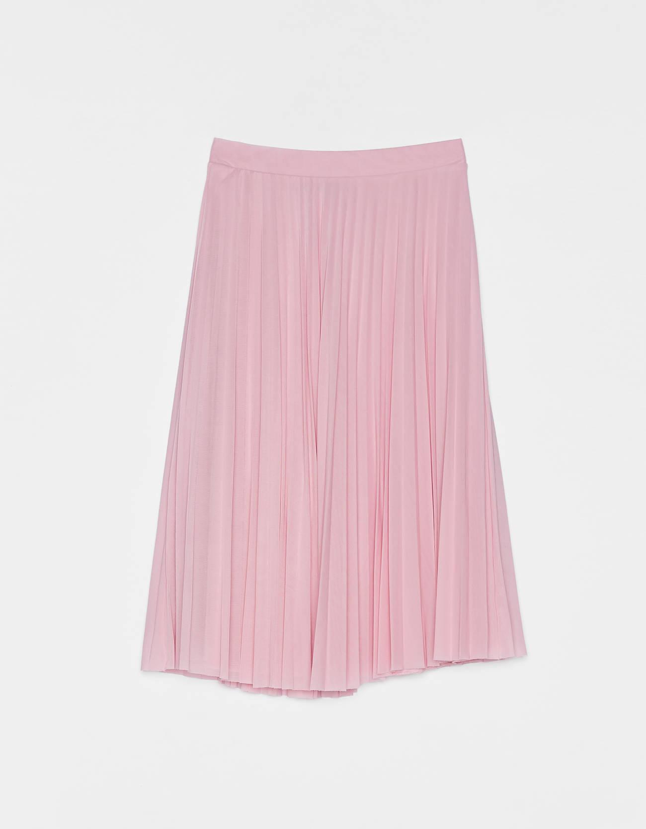 9ae00e19e997 Pleated tulle midi skirt - Skirts - Bershka Lithuania