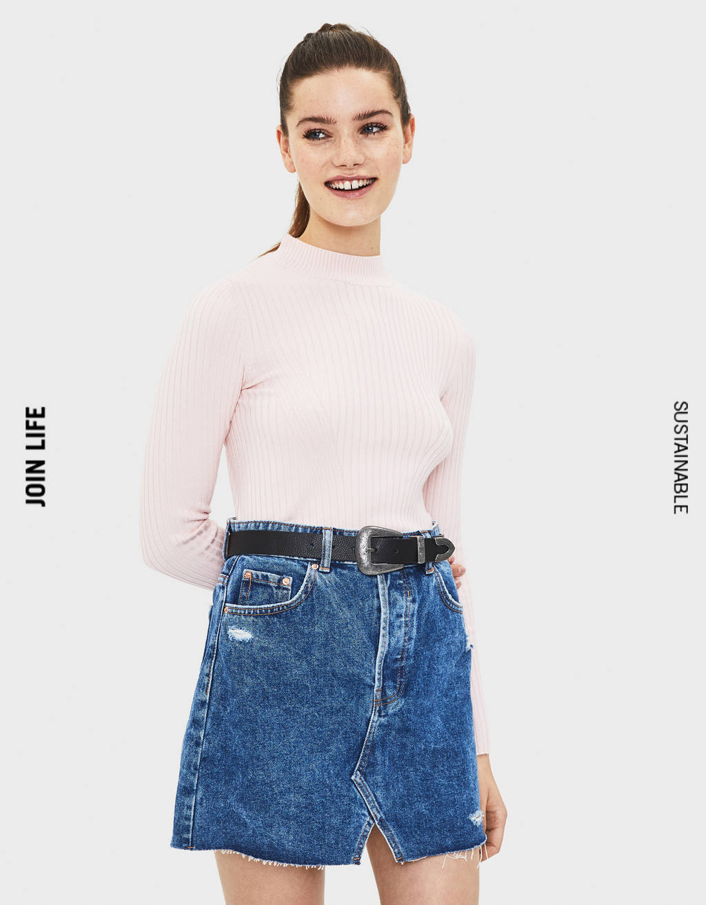 Saia denim High Waist