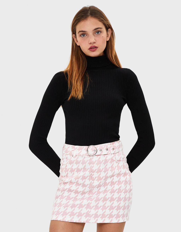Mini suknja s pojasom