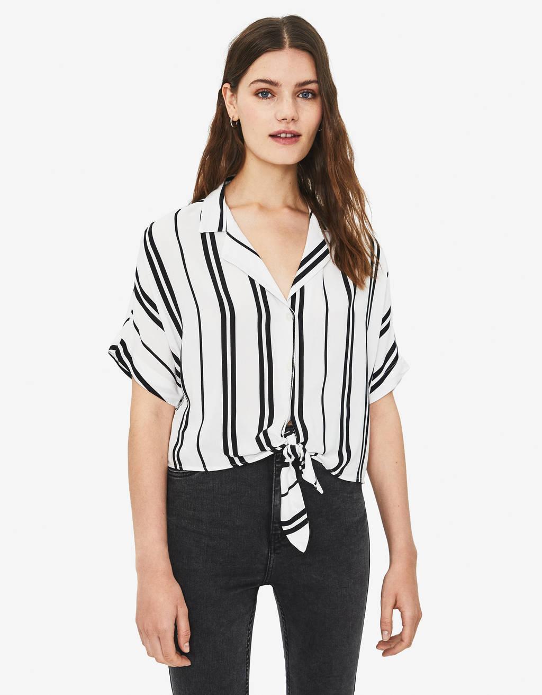 Риза оувърсайз с възел отпред