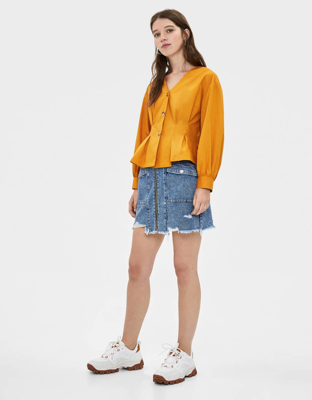 Chemise à col en V
