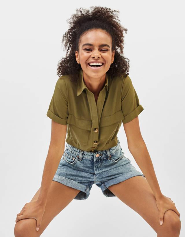 2c25e7a3d1 Chemises et chemisiers pour femme - Soldes d'été 2019 | Bershka