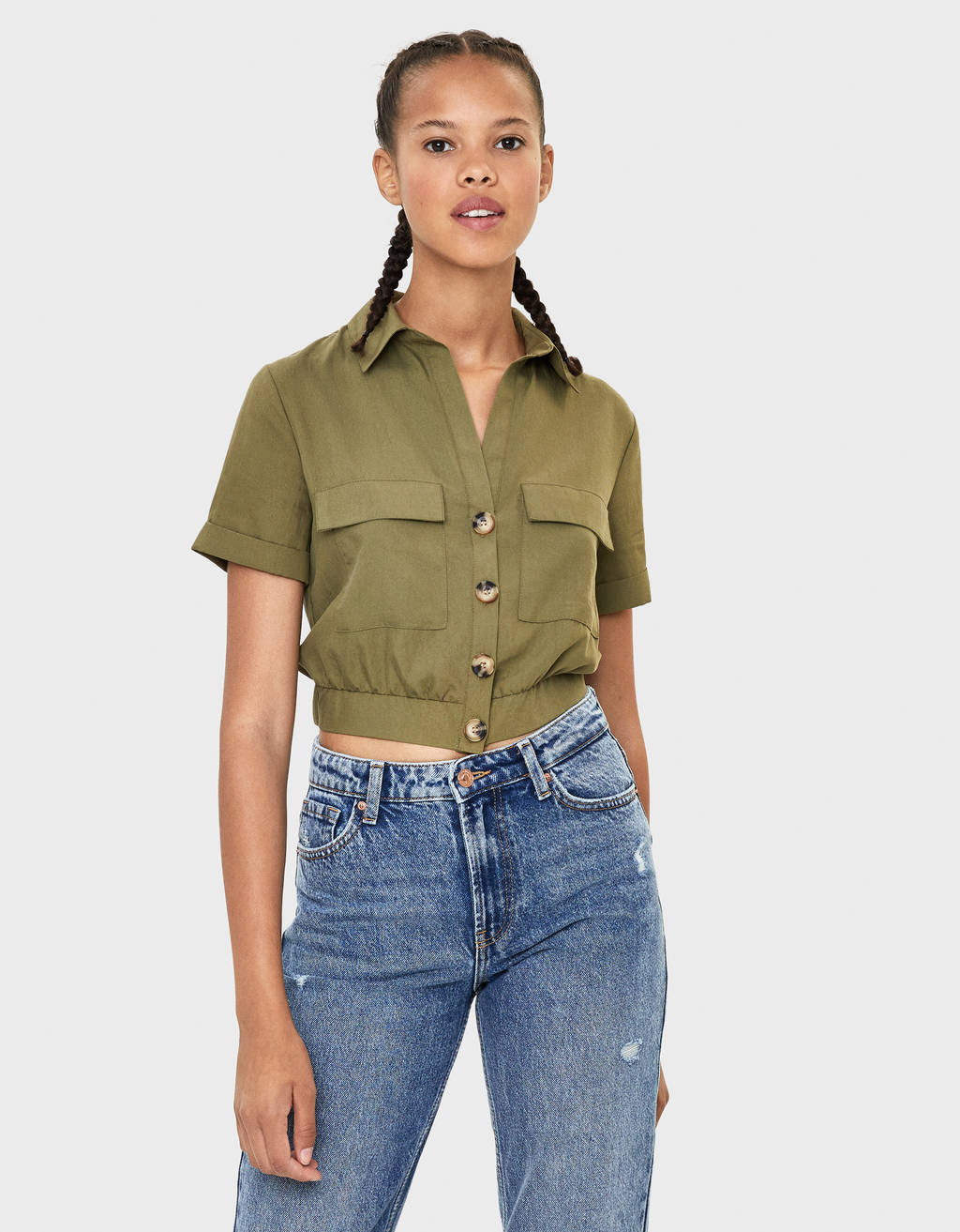 Cropped TENCEL® shirt