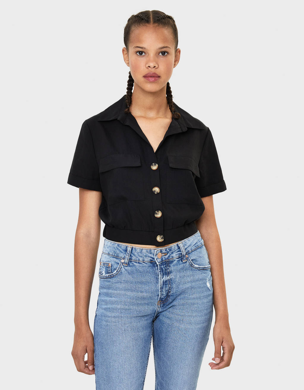 Camisa cropped TENCEL®