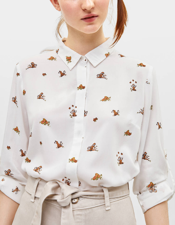 Camisa com manga comprida