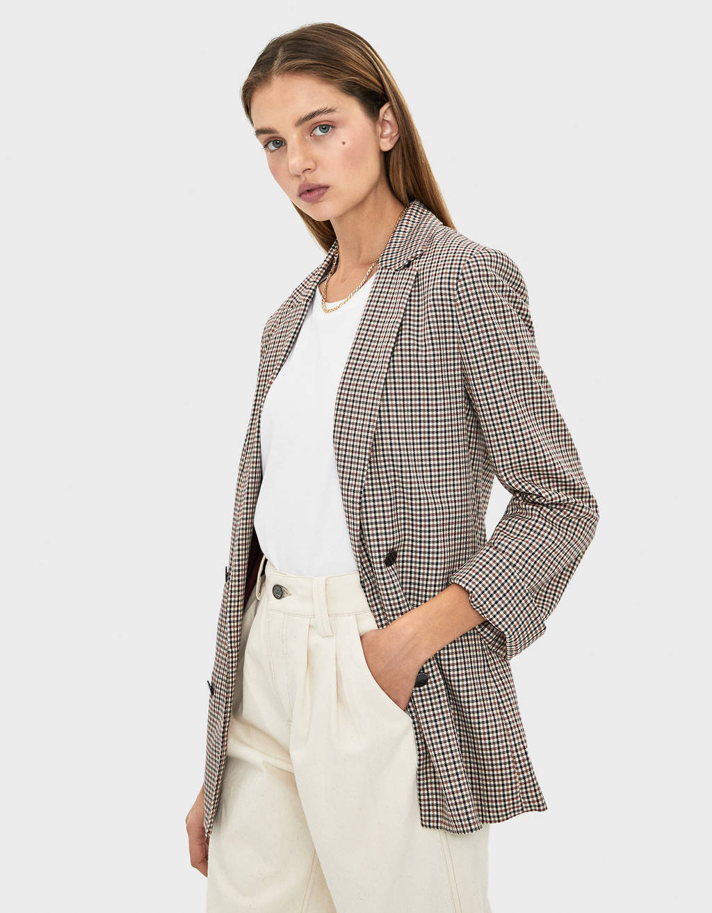 Blazer mit 3/4 Roll-up-Ärmeln