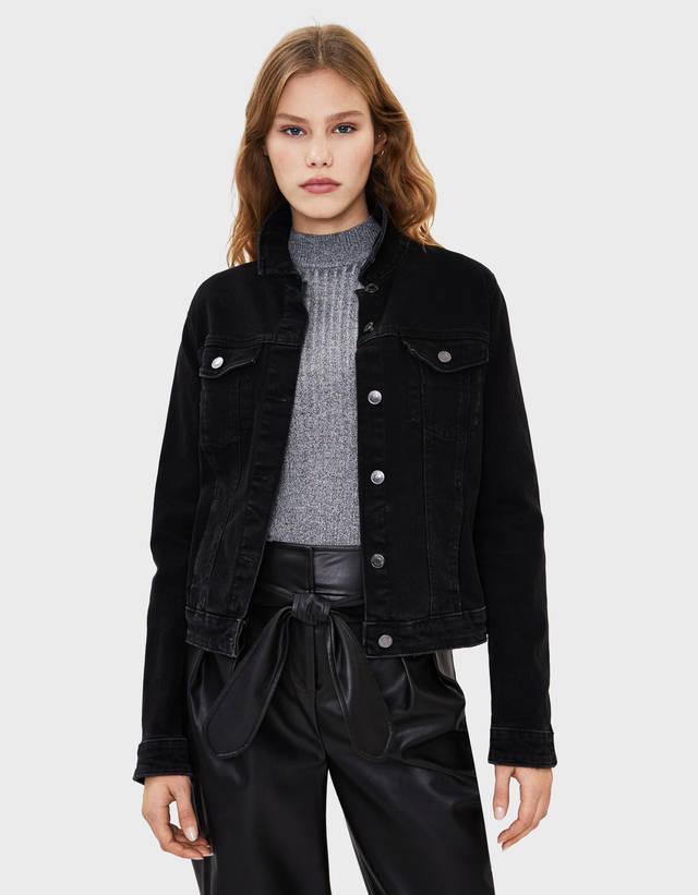 fa211f30589e7 Vestes en jean pour femme - Soldes d'été 2019 | Bershka