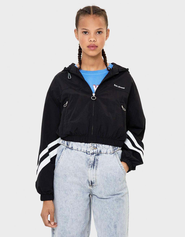 baratas para descuento c005c 74d10 Hooded nylon jacket - null - Bershka Albania