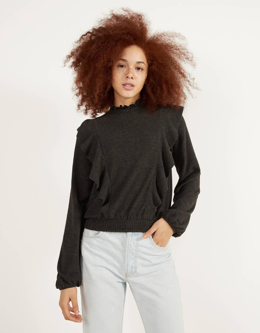 Shirt mit Volants